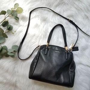 COACH Black Handbag Purse Tote Crossbody Strap